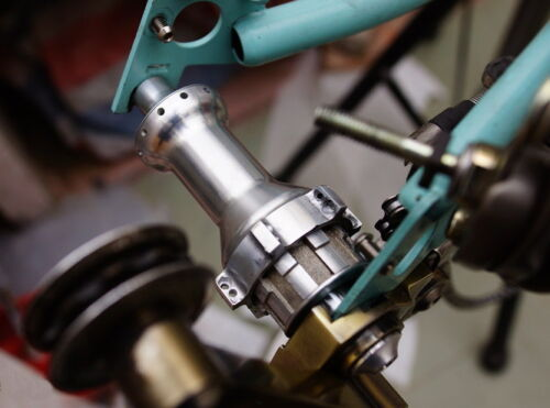 Full CNC rear 24 holes straight pull ceramic hub for brompton 3 speed 24H bike