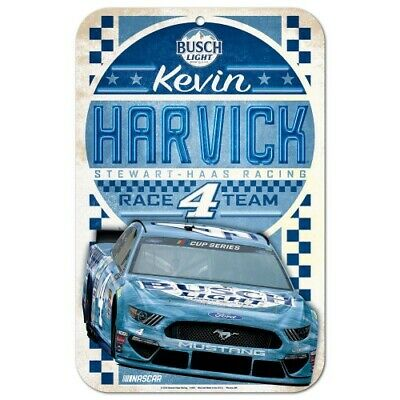 Kevin Harvick 2016 Wincraft #4 Busch Beer 11x17 Vintage Sign FREE SHIP
