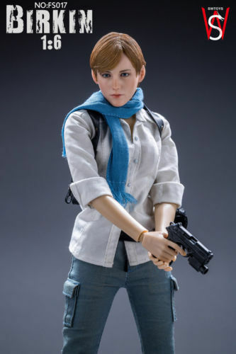 1 6 Scale swtoys FS017 Resident Evil 6 Sydney Birkin Platinum Figurine de collection