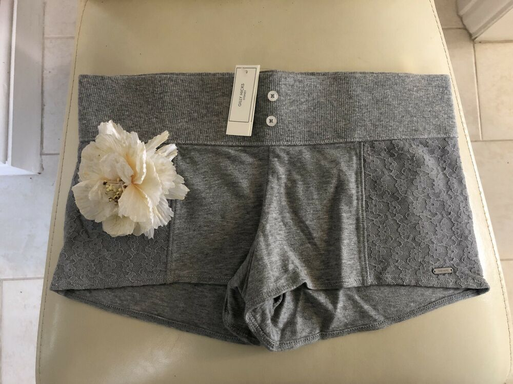 Gilly Hicks Gris Lit Short Uk Small New Tag