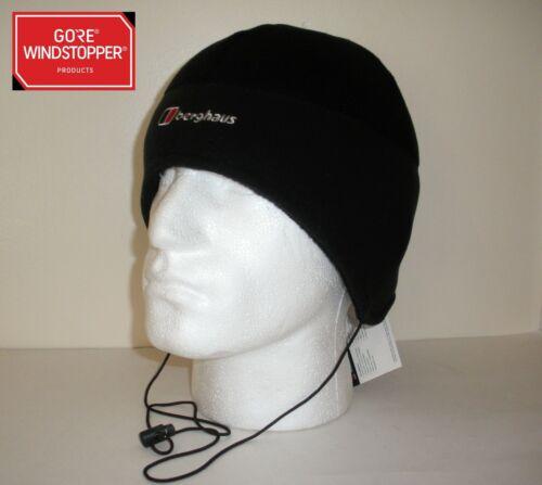 Berghaus Windstopper Fleece Windproof Hiking Outdoor Hat Black Walking S M NEW