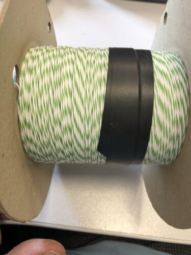 Single Core Blanc//Vert Fil Type a 7//0.2 PTFE Enduit 100 m