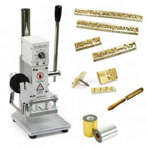 hot foil stamping machine for leather