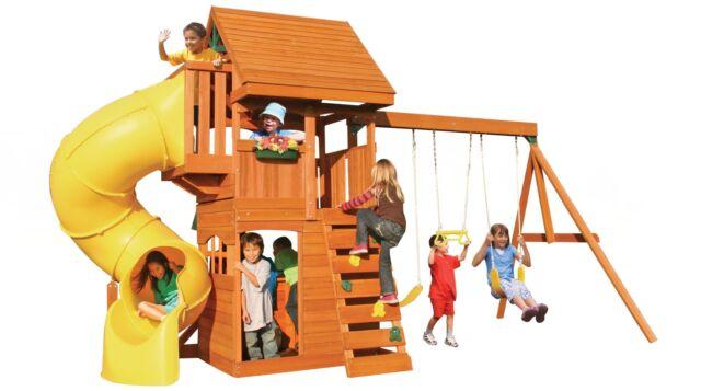 Big Backyard Swing Sets big backyard cedar summit grandview deluxe wooden swing set | ebay