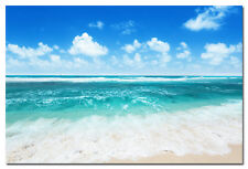 "Tropical Sea Beach Sky Nature Art Silk Poster Print 13x20 24x36/"" Rocks Boat 038"