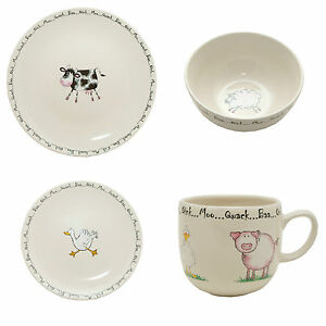 Image is loading Home-Farm-16-piece-dinner-service-Hens-Chicken-  sc 1 st  eBay & Home Farm 16 piece dinner service Hens Chicken Sheep Cow Pig plates ...