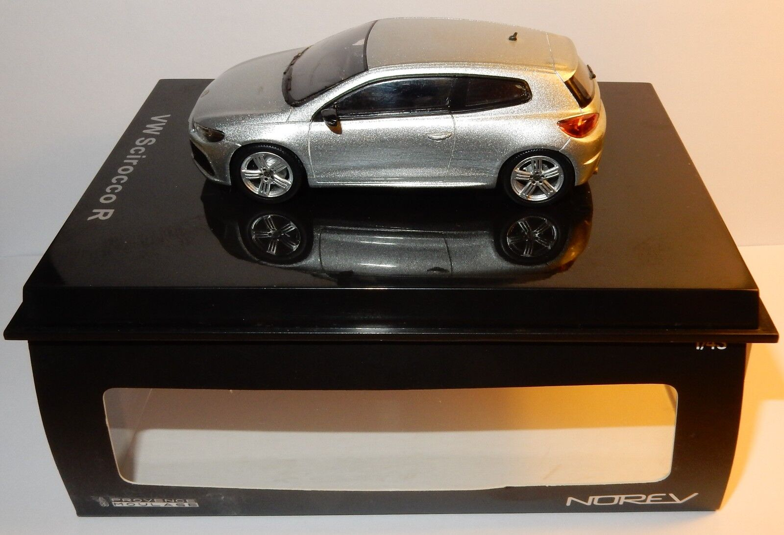 NOREV PROVENCE MOULAGE VW VOLKSWAGEN SCIROCCO R gris CLAIR ARGENT 1 43 IN BOX