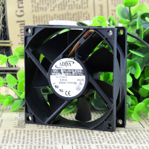 80mm 25mm New Case Fan 12V DC 72CFM PC CPU Computer Cooling Ball 8025