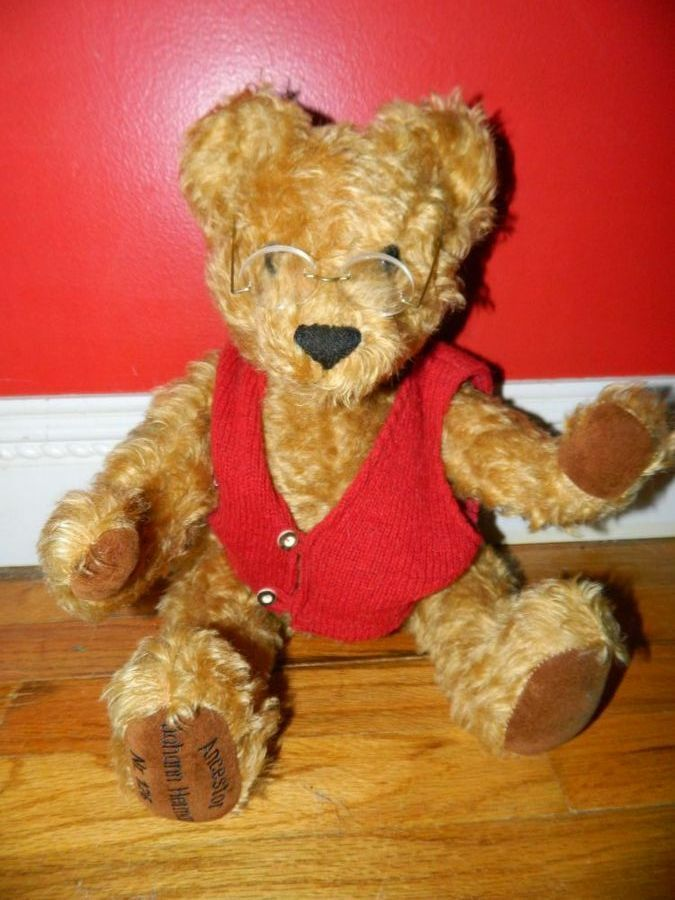 Ancestor Johann Hermann Mohair Teddy Bear w/ growler