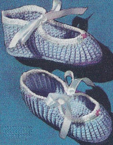 Thread Crochet PATTERN Baby Booties Soft Shoe Mary Jane