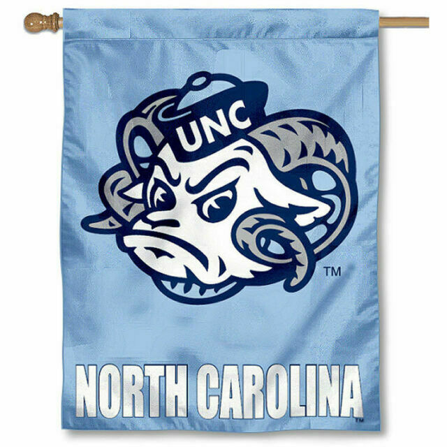 UNC Tar Heels Winter Snowflake Double Sided House Flag College Flags /& Banners Co