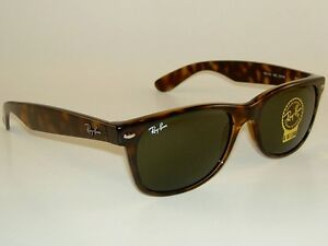 8e1e4c4755 New RAY BAN Sunglasses Brown WAYFARER RB 2132 902 G-15 Glass Lens ...