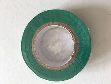 1 Rouleau de Scotch Isolant Electrique 10 mètres 15 mm couleur vert neuf