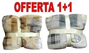 PLAID PILE MATRIMONIALE MORBIDO COPERTA AGNELLATO SOFFICE (2 PLAID ...