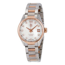Tag Heuer Carrera Mother of Pearl Diamond Steel and 18kt Rose Gold Ladies Watch