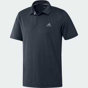 adidas-Golf-Ultimate365-Solid-Polo-Shirt-LC-Logo-Navy-Medium