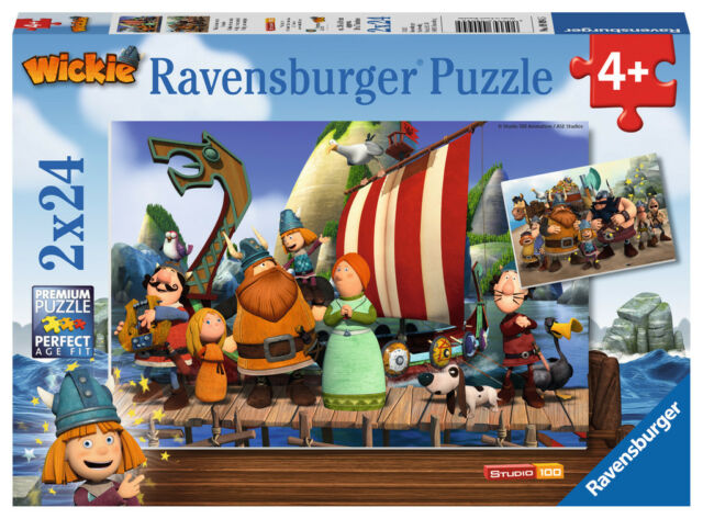 """Ravensburger® 09094  """" Wickie und seine Freunde  """" 2 x 24 Teile Puzzle, NEU&OVP"""