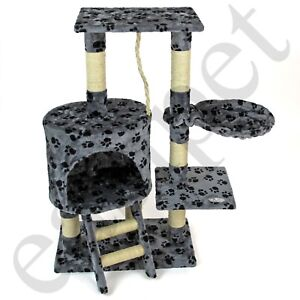 Cat-Tree-Activity-Centre-Scratcher-Scratching-Post-Kitten-Play-Toy-Scratch-Bed