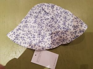 Creative New.little White Co.0-6mth Girls Blue & White Foral Print Lined Sunhat Traveling Kids' Clothes, Shoes & Accs.