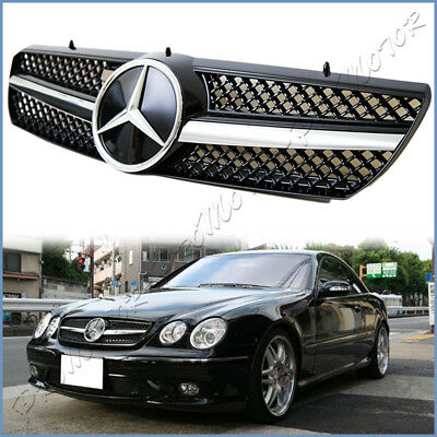 Mercedes W215 CL55 CL500 CL600 Grill Grille AMG Black Distronic type 2000 2006