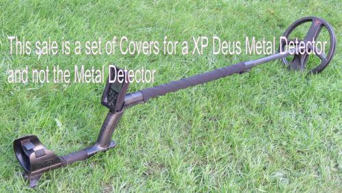 TO FIT  A  XP DEUS METAL DETECTOR SET OF 3 NEOPRENE BLACK COVERS