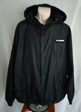 Tommy Hilfiger Black Hooded Windbreaker Jacket Mens XL