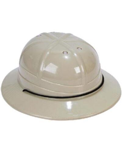 Khaki Plastic Safari Helmet One Size