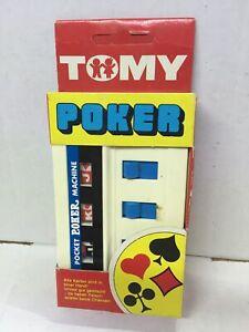 Tomy-Poker-Game-Pocket-Pocket-Machine-pocketeers-Vintage-MIB-1976-Singapore