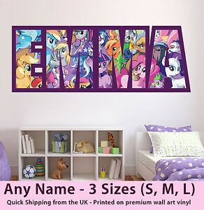 Image is loading Childrens-Name-Wall-Stickers-Art-Personalised-My-Little-  sc 1 st  eBay & Childrens Name Wall Stickers Art Personalised My Little Pony for ...