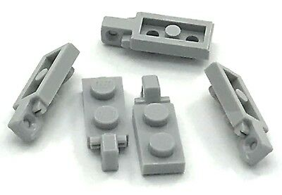 Lego 5 New White Hinge Plate 2 x 2 Locking with 1 Finger on Top Pieces