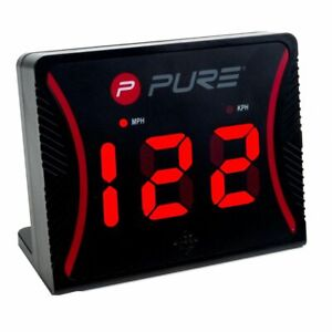 Pure2Improve-Speed-Radar-Black-Plastic-Sports-Gun-Hockey-Atheletics-Sensor