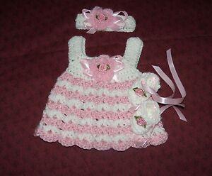 Preemie /& Newborn Handmade Crochet baby set by Rocky Mountain Marty