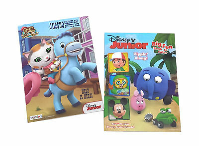 New Set Of 2 Sheriff Callie Disney Junior Kids Coloring Book Activity Books Set Ebay