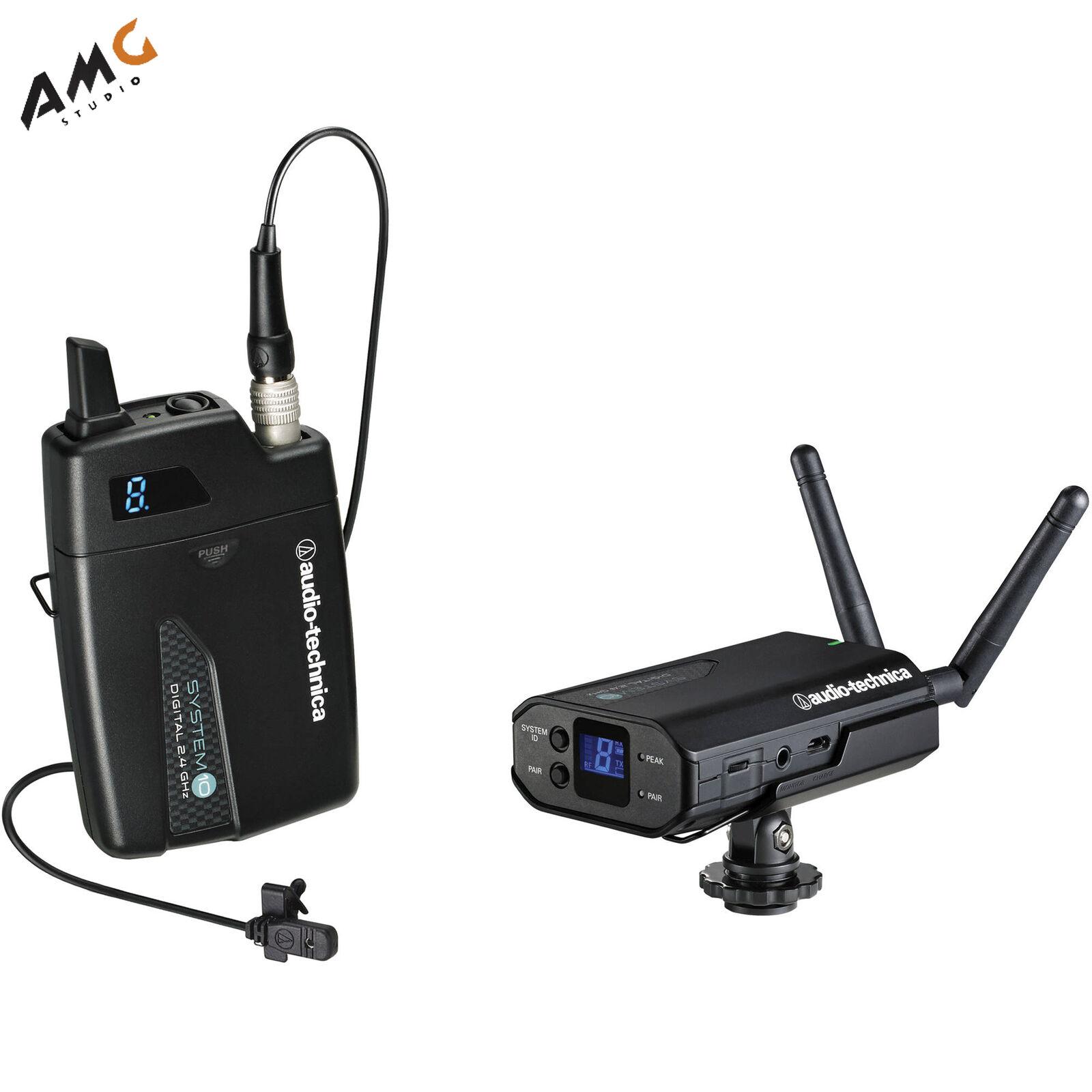Audio-Technica ATW-1701 L 10 Digital Camera-Mount Wireless Omni Lavalier System