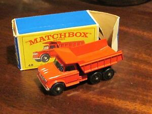 Matchbox Lesney No  48 DODGE DUMP TRUCK Empty Box style G