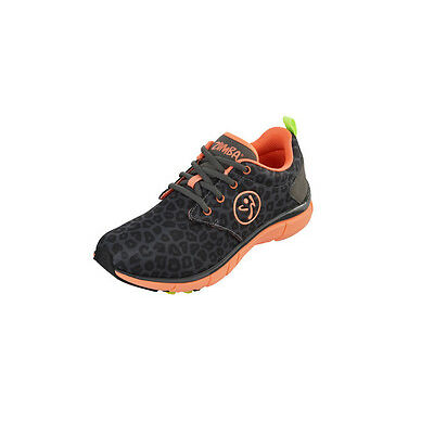 Zumba Fly Print Z-Slide Shoes - Char Leopard/Coral