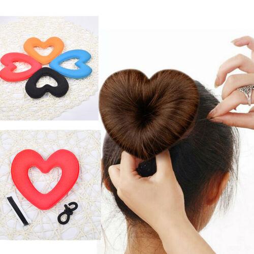 Eg /_ Damen Mädchen Haare Herz Sponge Dutt Macher Frisur Styling Diy Tool Zubeh