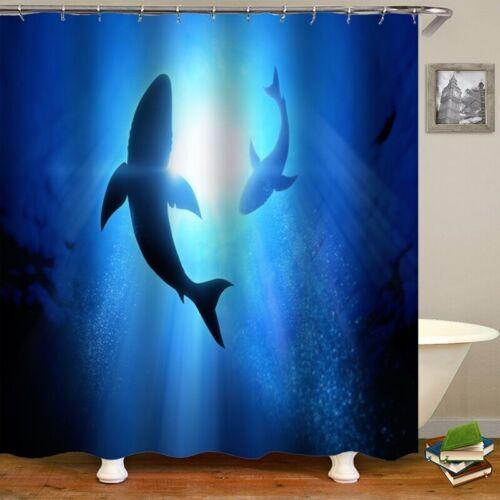 Waterproof Bathroom Shower Curtain Set Toilet Seat Cover Mat Rug Bathroom Decor