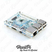 Aqua Blue Acrylic Case for Raspberry Pi 3 Model B VaultPi