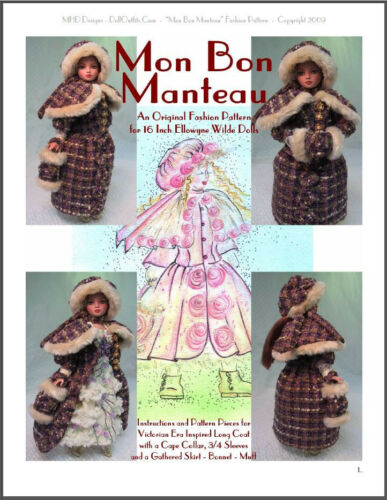 "/""Mon Bon Manteau/""  Fashion Pattern for Ellowyne  Wilde"
