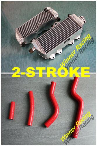 Aluminum Radiator+RED Silicone Hose For Yamaha YZ250 249cc 2-Stroke 2002-2020