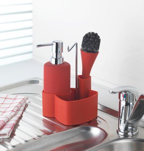 WENKO Spül-Set Empire Rot mit Spülbürste   Spül-Set Empire  Set zum Spülen