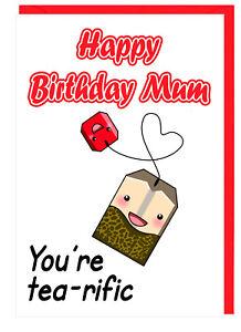 Geburtstagskarte Schreiben Mama.Details Zu Geburtstagskarte Fur Mama Tee Themen Alles Gute Zum Geburtstag Mutter You
