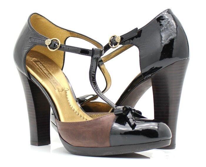 BCBGMaxAzria Hade nero patent leather & distressed Marronee pump 10 Med  225 ret.