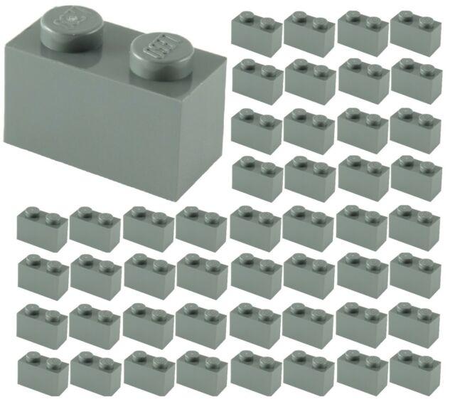 725 Lego Brick 1x2 with Bar NEW Dark Grey 2 Piece