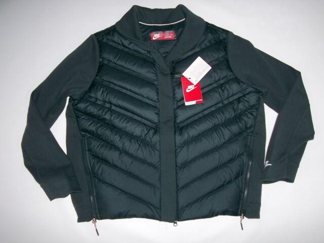 NIKE Sportswear Tech AEROLOFT Down Insulated Bomber JACKET Womens Sz XL $250 NEW