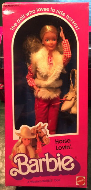 Western Barbie ColorForms Set  Original Box Outfits Barbie Doll RARE 1982 Mattel ColorForms Almost COMPLETE So Retro Horse Doll Included
