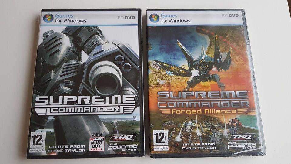 Supreme Commander + Forged Alliance, til pc, realtime