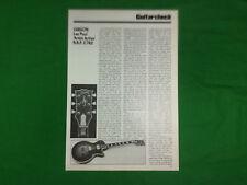 Gibson Les Paul guitar Artist Active 1980 press article / feature