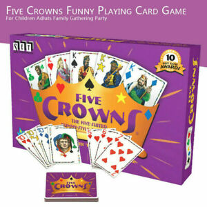 1 Set Five Crowns Card Game 5 Suites Classic Family Party